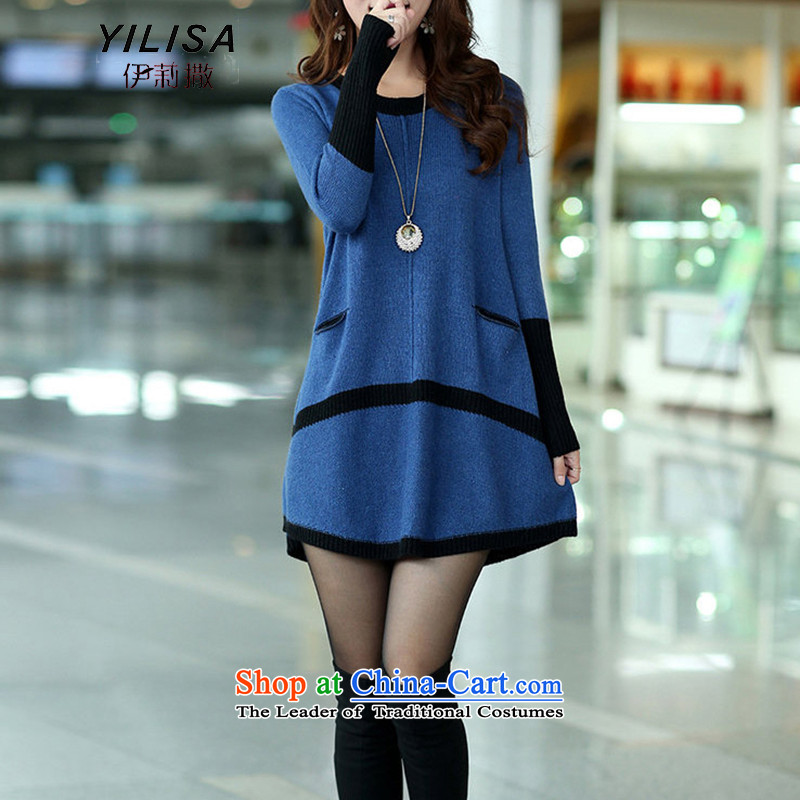 Elizabeth sub-2015 autumn and winter new to increase women's code in long thick MM Winter Sweater, forming the sleek and versatile sweater m9156 grayXXXL, Elizabeth YILISA (sub-) , , , shopping on the Internet