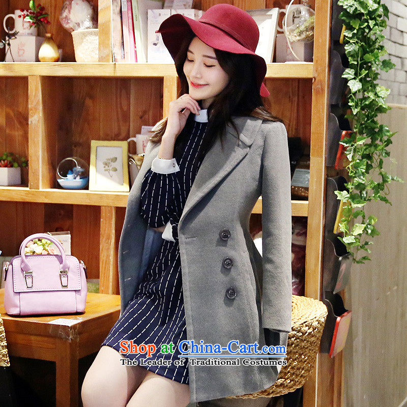 Park woke up to 2015 winter coats of new products that Korean Sau San double-jacket gray M Gross?