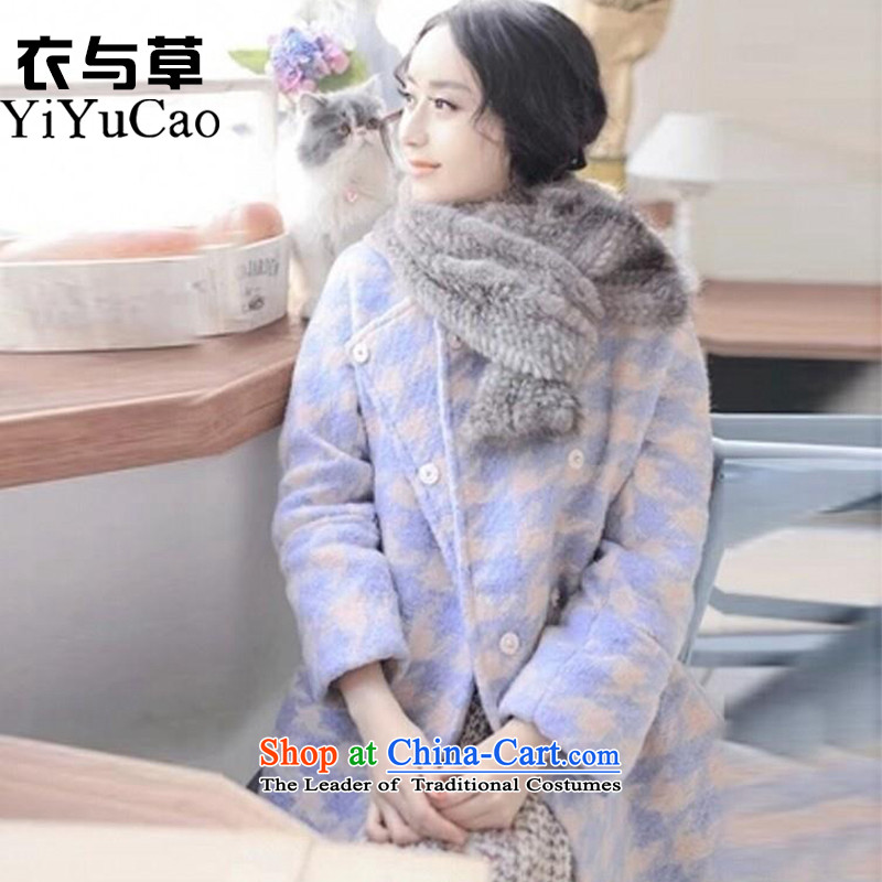 Yi with grass women on new coats winter? 2015 New Fall/Winter Collections in long Sau San for larger women's gross jacket coat Connie? a wool coat mn39 picture color S