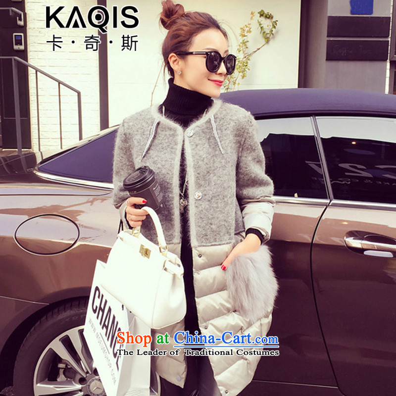 Card, 2015 autumn and winter new Korean version of the long hair? Very casual coats gross? jacket female 6,236 houses at the picture color. M.