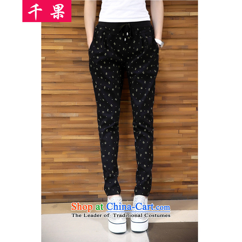 Thousands of people's congresses thick code results for women to increase tension waist trousers with a pencil thin graphics Thick coated trousers, lint-free wearing thick mm castor trousers casual pants�L 386 Black