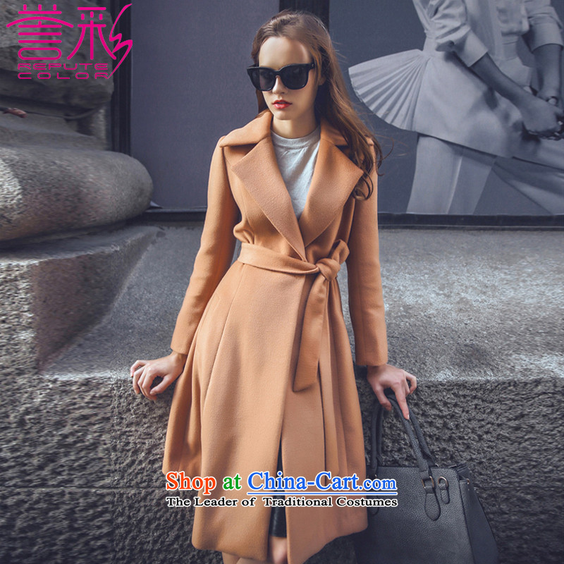 Also known for autumn and winter 2015 Western double-side wool coat with a    ?? In coats temperament Long Hoodie T857 sub-ni and Color燤