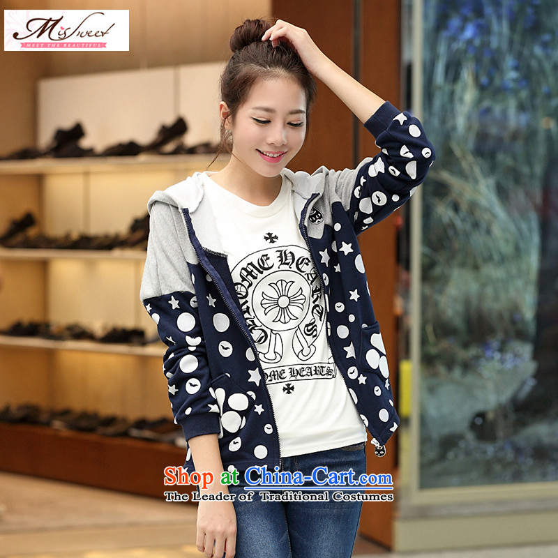 The litany of m thick sister video thin Korean New 2015 mm to thick xl female loose spring and autumn jacket 3XL Gray 2 Feet 9/3 gauge