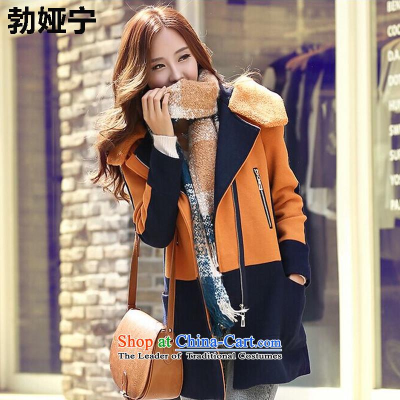 Buck Mulligan Ah Ning New Winter 2015 Korean fashion Sau San Mao? coats that long_? female 58 khaki jacketXL