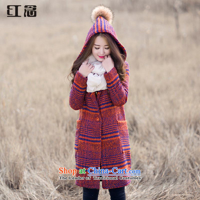 The red cap and mindful that gross jacket female winter so long in gross coats orange燬?
