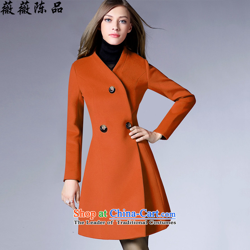 Weiwei Chen No. 2015 autumn and winter new Western gross girls jacket? long hair a wool coat Sau San Video Foutune of thin and color燬 81 29