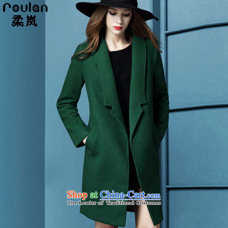 Sophie sponsors to intensify the code women in gross? jacket long 2015 Fall_Winter Collections 200 mm thick people thick catty graphics sub-coats_? Thin women 5212 Green�L