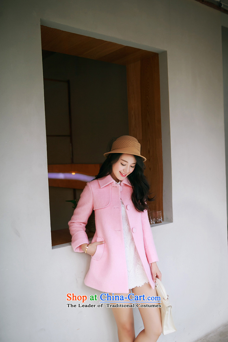 Christy Love 2015 autumn and winter new Korean version in the long hair of Sau San? jacket lapel a wool coat D3059 female pink聽S expected issued on 22 November, the price and the brand image of Platters! The elections are supplied in the national character of distribution, so action, buy now enjoy more preferential! As soon as possible.
