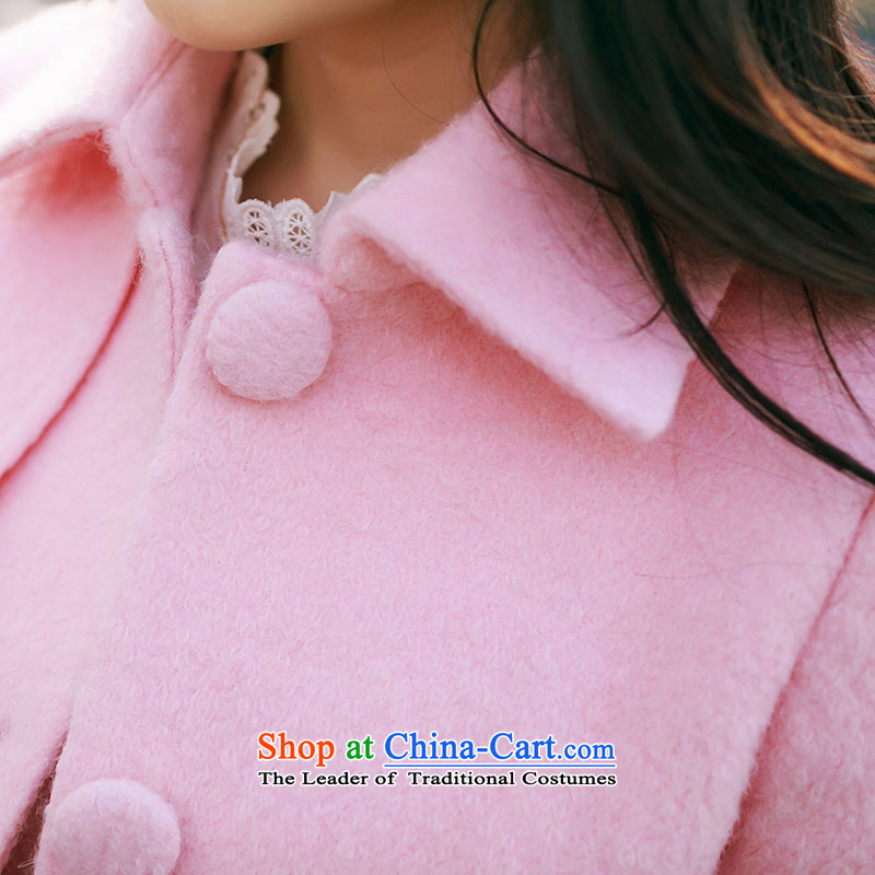 Christy Love 2015 autumn and winter new Korean version in the long hair of Sau San? jacket lapel a wool coat D3059 female pink聽S expected issued on 22 November, Christy Love , , , shopping on the Internet