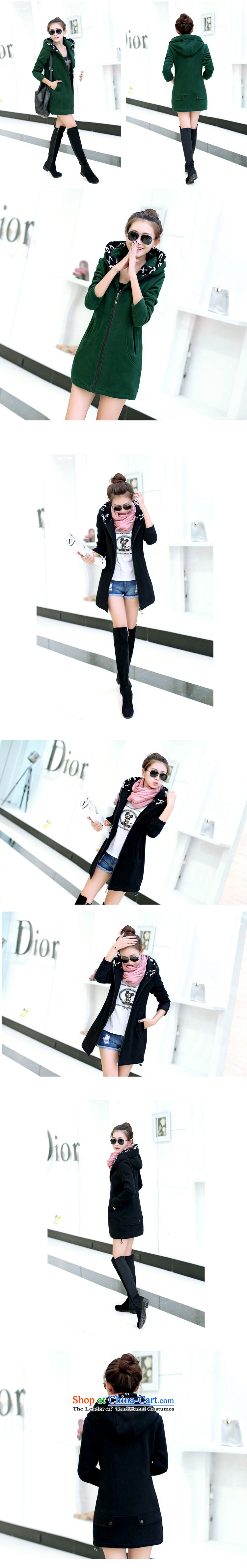 2015 Autumn and winter Zz&ff new larger female thick cardigan in long sweater WT6605 female black XXXL picture, prices, brand platters! The elections are supplied in the national character of distribution, so action, buy now enjoy more preferential! As soon as possible.