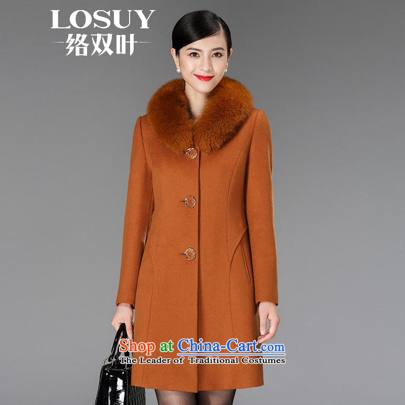 Contact Us dual leaf gross women coat? cashmere sweater in new long long-sleeved 2015 stylish colors and a gross foxM