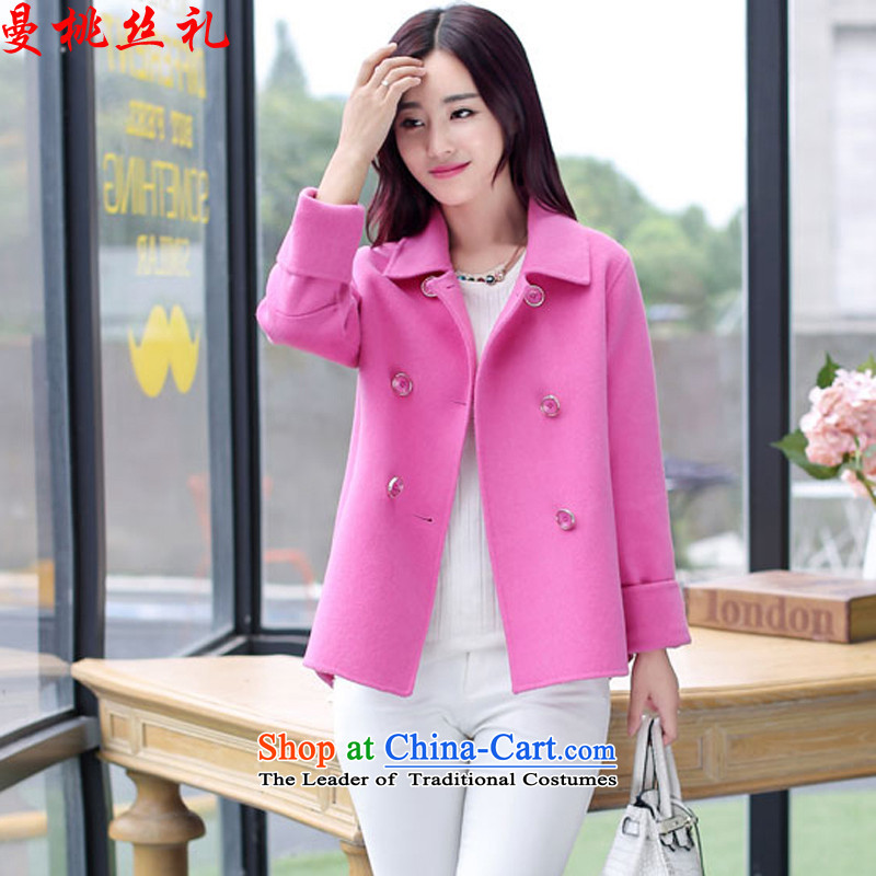 Cayman commercial silk ceremony? jacket female short hair, 2015 autumn and winter new Korean small Heung-Sau San thick hair for normal double-mui color coats gross? 3118 M