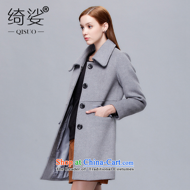 As provided for larger gross girls jacket? long thick thick winter thick sister mm wool coat loose video thin? 3191 5XL Gray