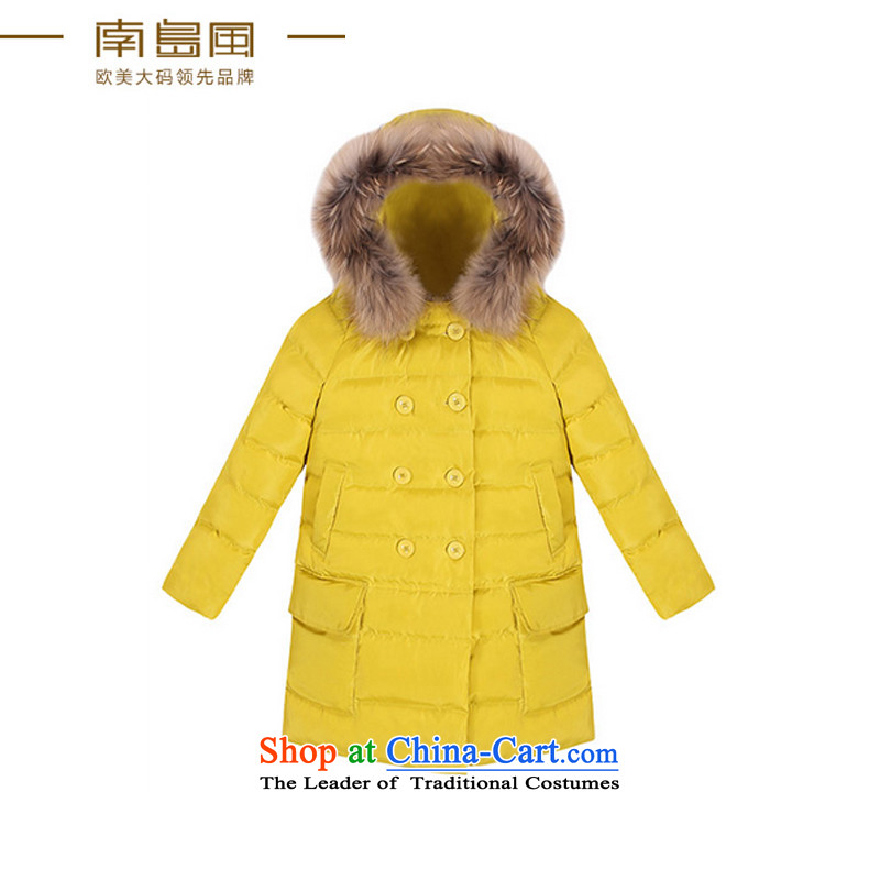 The South Island of New Europe and the 2015 wind larger female thick mm autumn and winter graphics thin double-cap for cotton wool large yellow 5XL