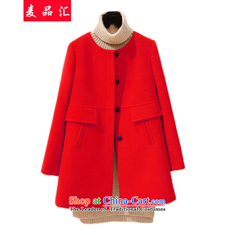 Mak, removals by sinks thick mm fall_winter collections to the new 2015 XL women in thin long loose video Fleece Jacket thick sister? 9 668 red�L Coats