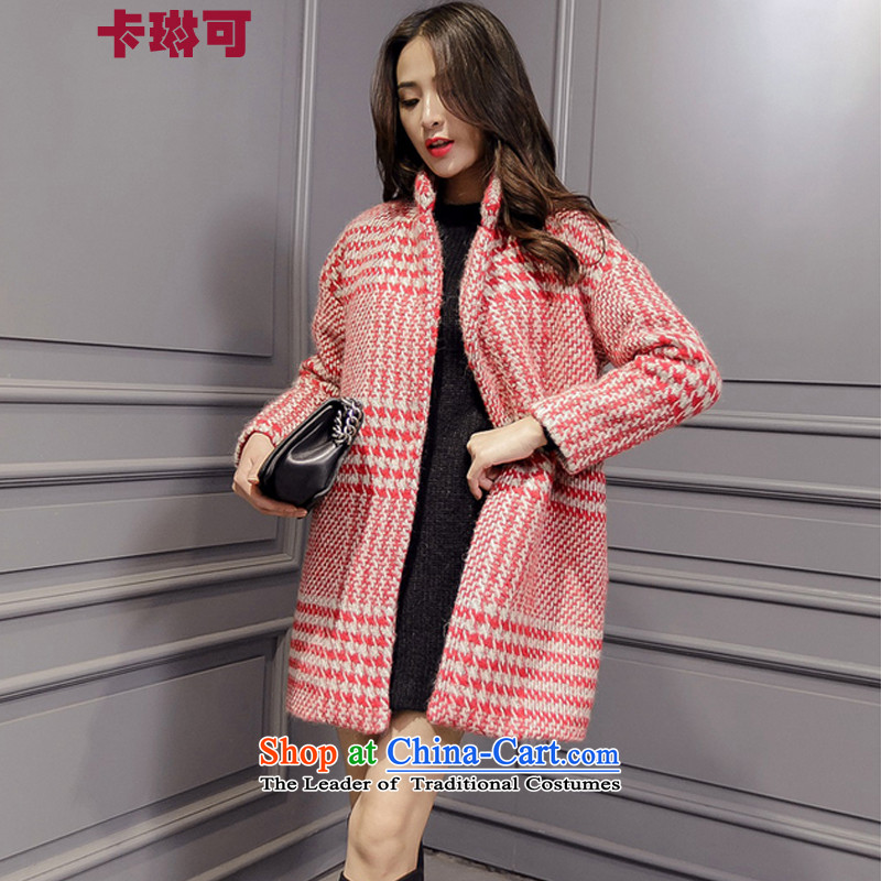 Carleen gross? for winter coats women 2015 new Korean women in a compartment relaxd long thick hair? Jacket Ruby Red燤