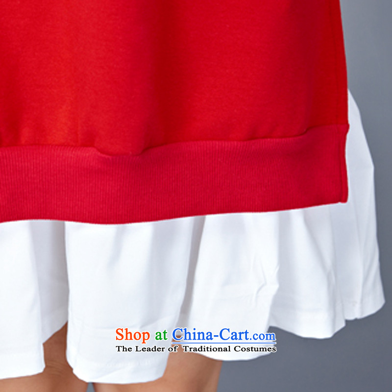 2015 Autumn and Winter Korea MEISUDI version of large numbers of ladies thick leave two loose video in thin long wild forming the long-sleeved blue skirt are loose) code (MISO (MEISUDI) , , , shopping on the Internet