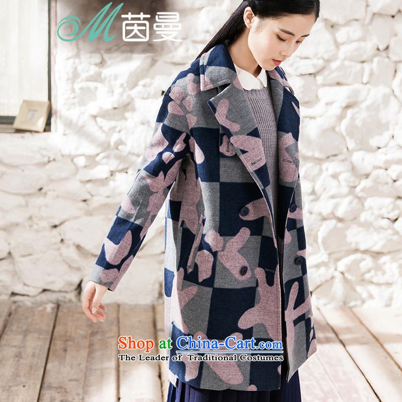 Athena Chu Cayman2015 winter clothing New Long)? jacket double-coats girl (8543210415?- light pinkXL
