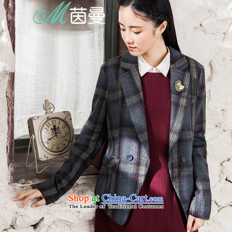 Athena Chu Cayman2015 winter clothing new arts tartan jacket short jacket, female (8543220440 as soon as possible from the sootM
