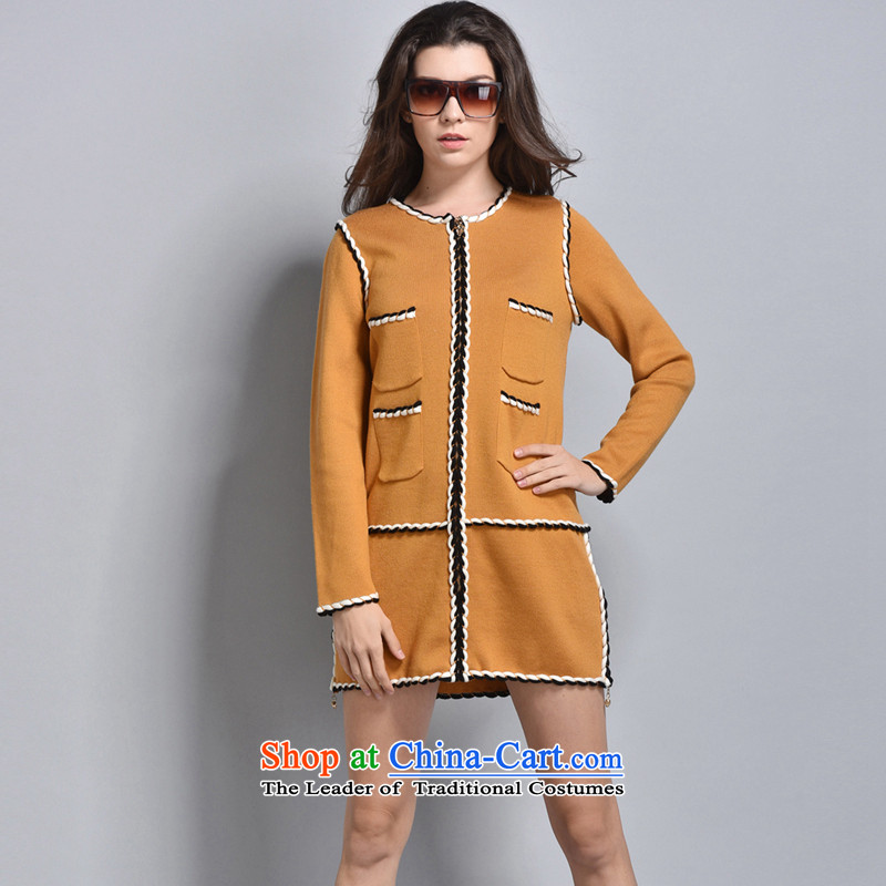 Women in the autumn oopsciah minimalist wind aristocratic big coats 88247 Kwai Yuen Wong L