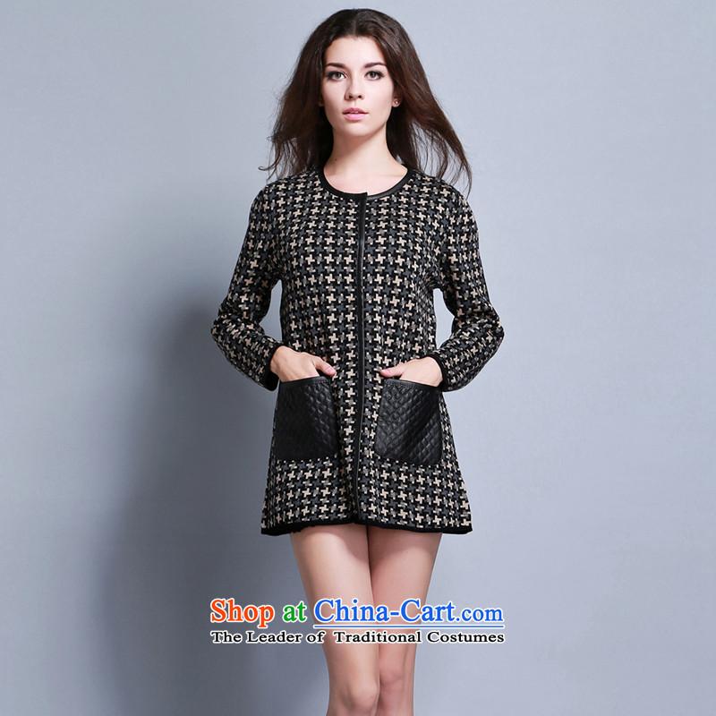 Women in the autumn oopsciah Western Wind elegant wild�088 Black m coat XL