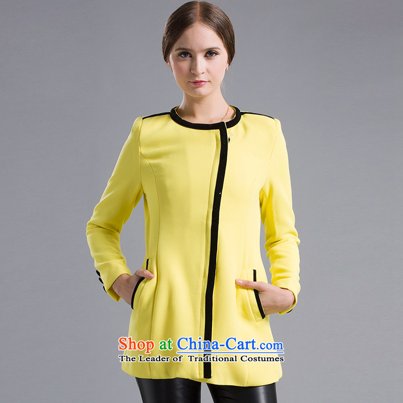 Blue silk Doi _lansda_ female jackets L13312007139 yellow S