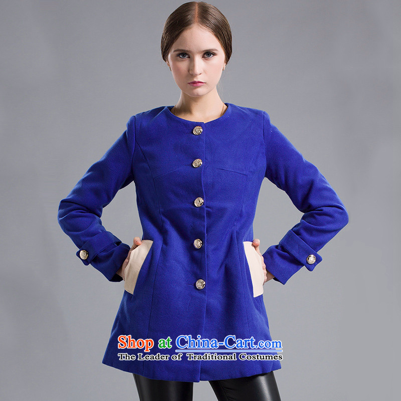 Blue silk Doi _lansda_ jacket L13314003010 gross Sau San? blue S