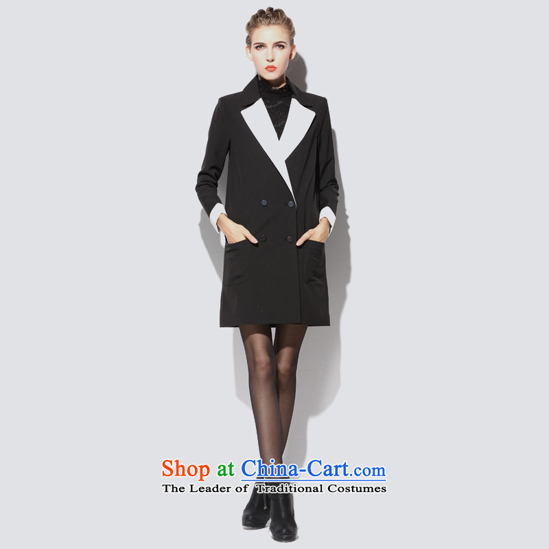 Consideration LISHA Lisa _gross_? Long butted black windbreaker LS15C0113 L
