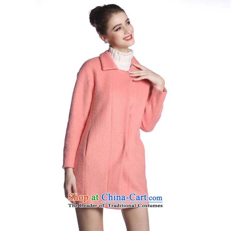 Arts _yiman Overgrown Tomb_ pink stylish and elegant long-sleeved woolen coat聽Y862F2031C24 L