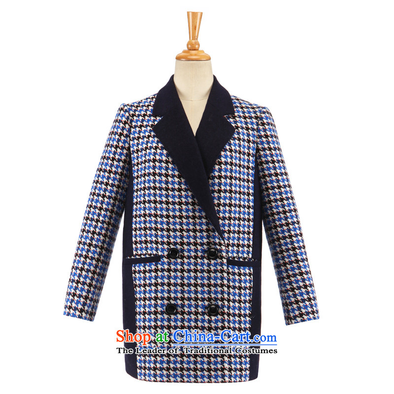 The new winter GOELIA chidori grid lapel coat, Song Leah winter new chidori grid lapel coat, Song Leah winter new chidori grid lapel jacket quote ,GOELIA winter new chidori grid lapel jacket Quote