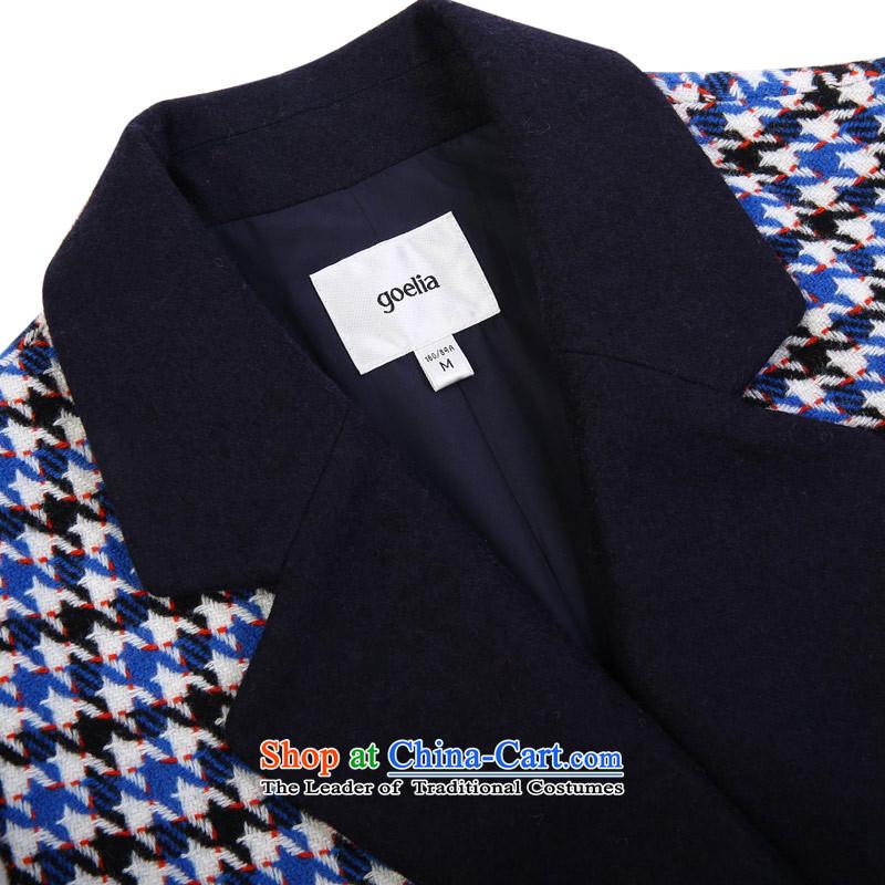The new winter GOELIA chidori grid lapel coat, Song Leah winter new chidori grid lapel coat, Song Leah winter new chidori grid lapel jacket quote ,GOELIA winter new chidori grid lapel jacket Quote