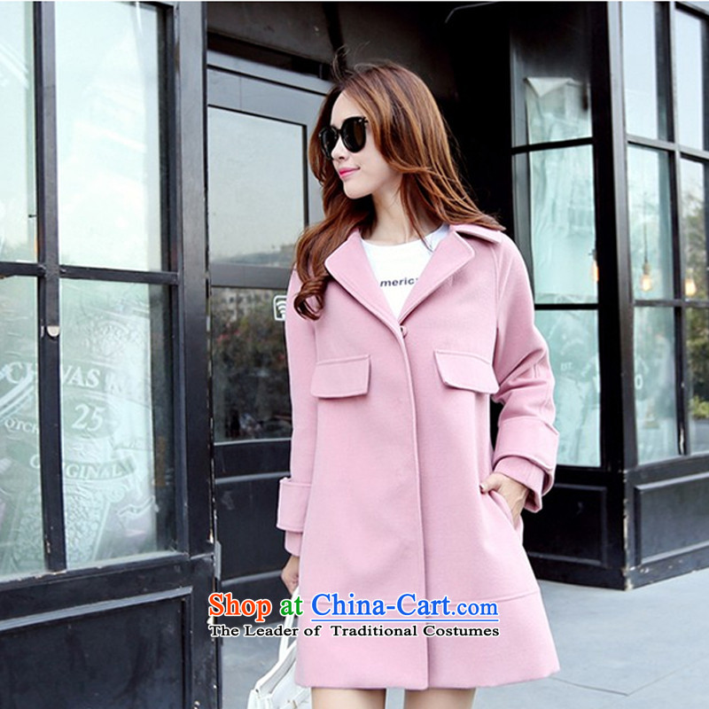The chemist聽XINYARAN聽pure colors in the lapel long coats聽HXY217_?聽And toner聽XL