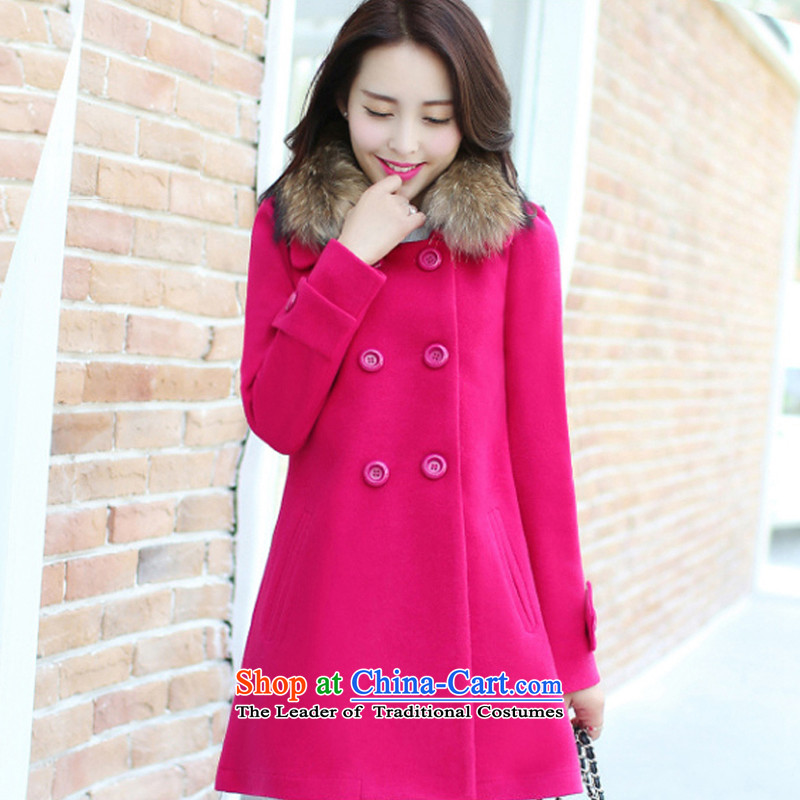 The chemist聽XINYARAN聽solid color for long wool nagymaros coats聽YXG9965?聽The Red聽XXL