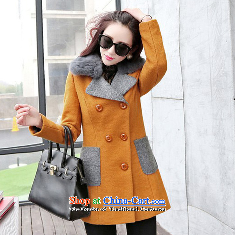The chemist聽XINYARAN聽fashion, rabbit hair for coats聽HXY225?聽Kim and color聽XXL