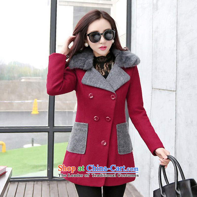 The chemist聽XINYARAN聽fashion, rabbit hair for coats聽HXY225?聽Cherry Red聽XL