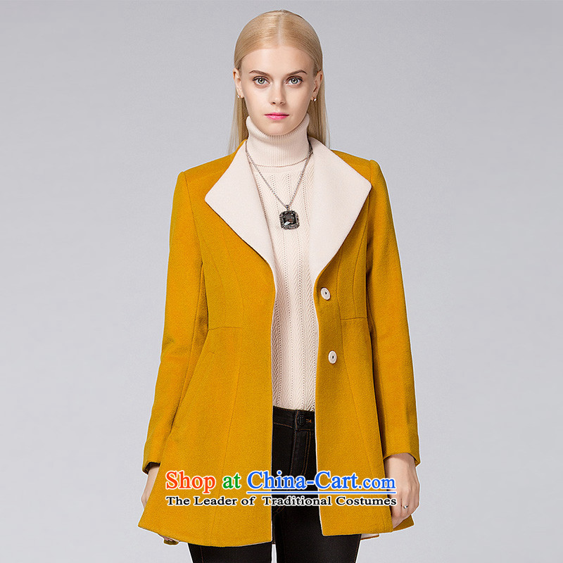 Ditto D13DR585 stylish lapel knocked colors? jacket yellow L