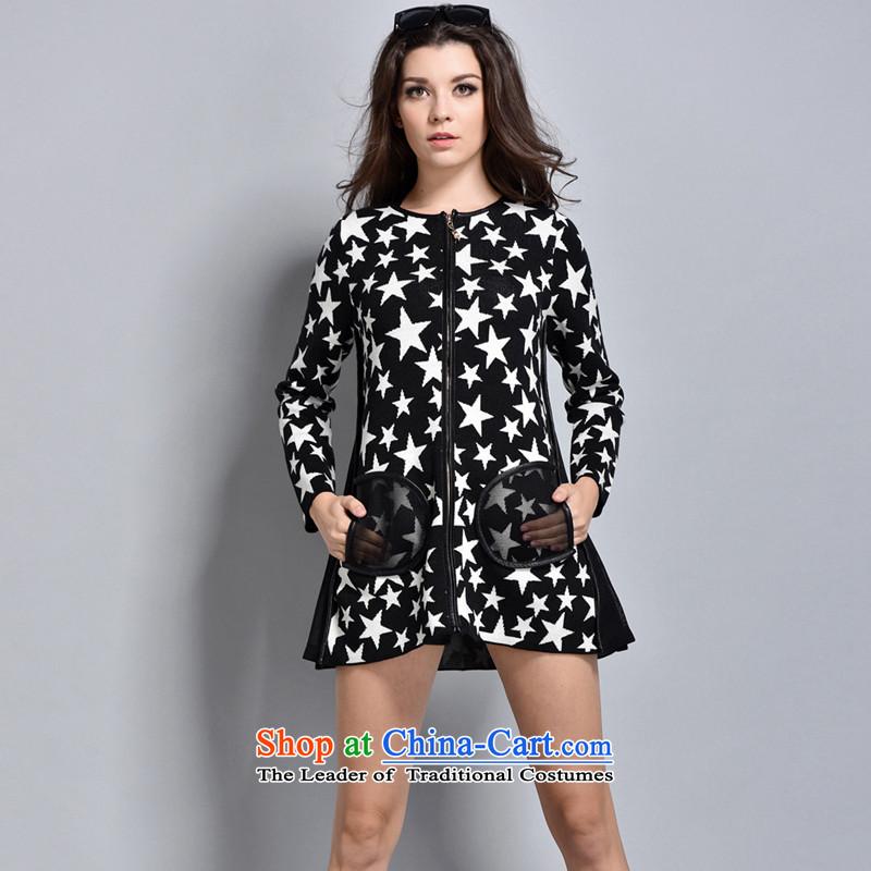 Women in the autumn oopsciah Korean stars jacket�245 Black XL