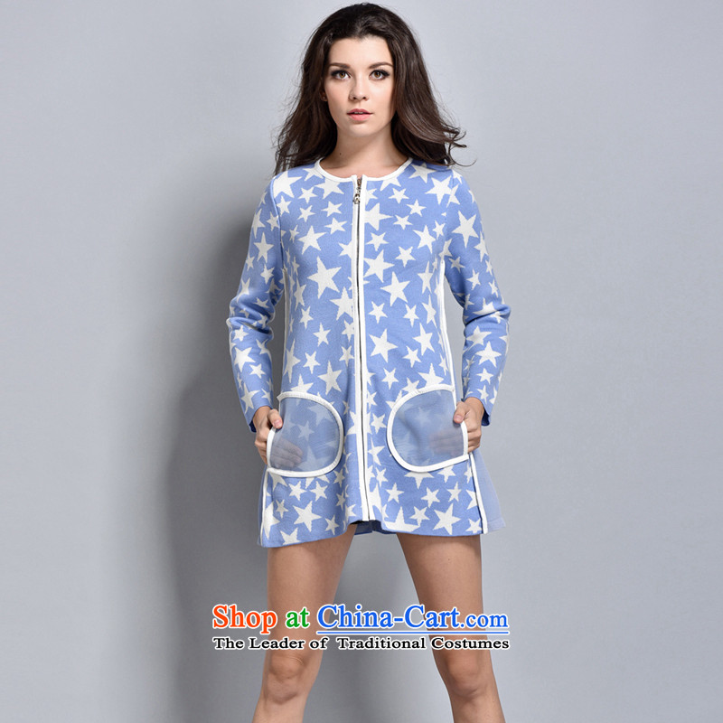 Women in the autumn oopsciah Korean stars jacket 88245 blue L