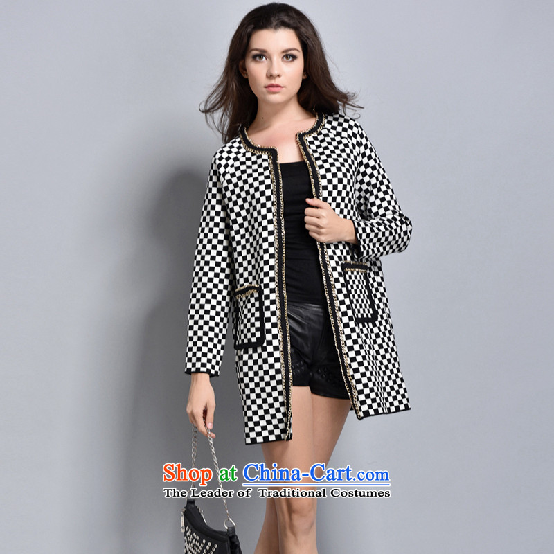 Women in the autumn oopsciah wild wind Classic Card Jacket�246 black and white L