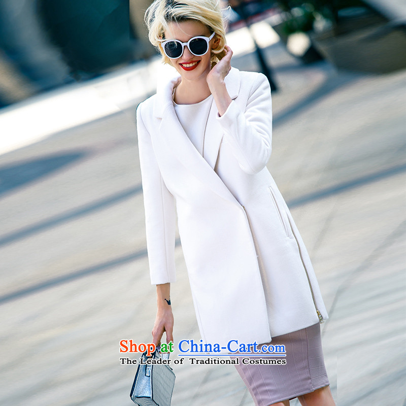 Lily elegant multi-colored white coats and simple gross? S LL215307016