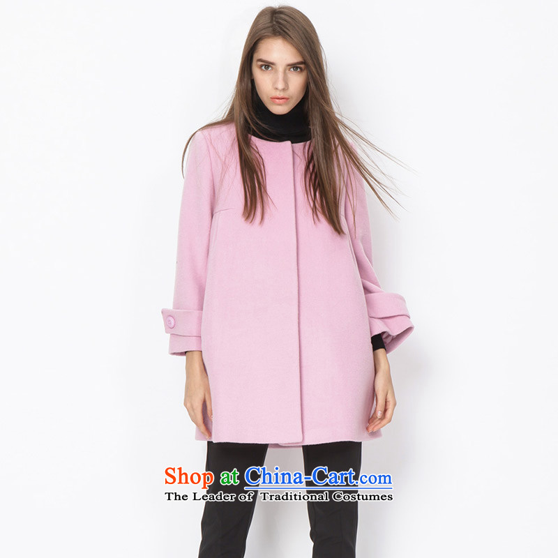 To send a small energy _EUROPRIMO_ round-neck collarEUDQD512A gross? coatsGray Pink S