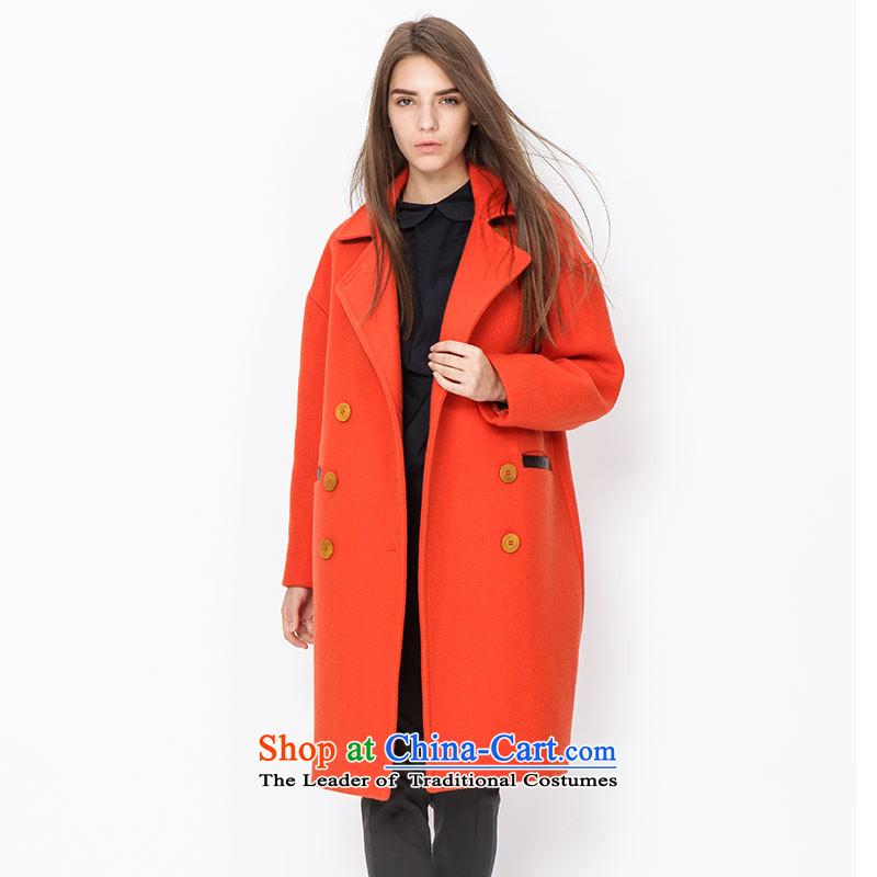 Send _EUROPRIMO_ energy-long leather stitchingEUDQD503A gross? coatsorange M