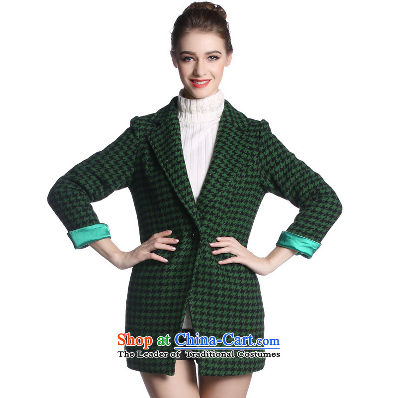 Hayek terrace _MAXILU_ Green smart casual long-sleeved coats M862A2026C07 XL