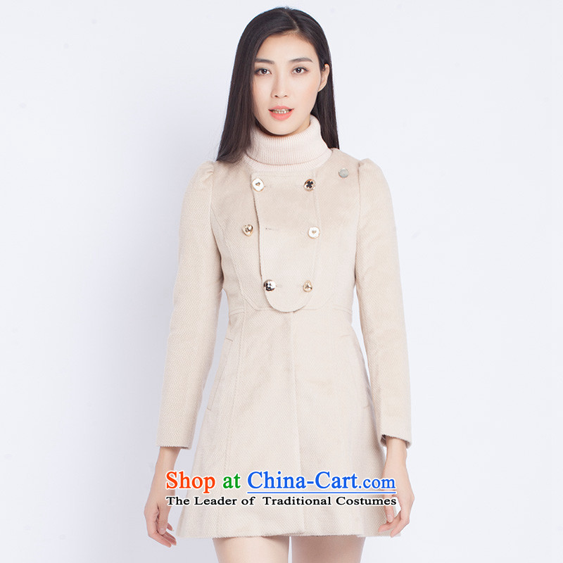 The war-hee _QS_ Korean lady without collars Bow Ties are Sau San? The coats KXI105 36S beige