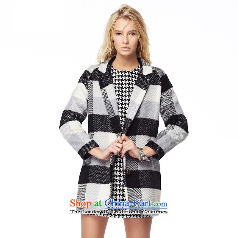 Lily Classic double-alpaca coats latticed M LL214407015?