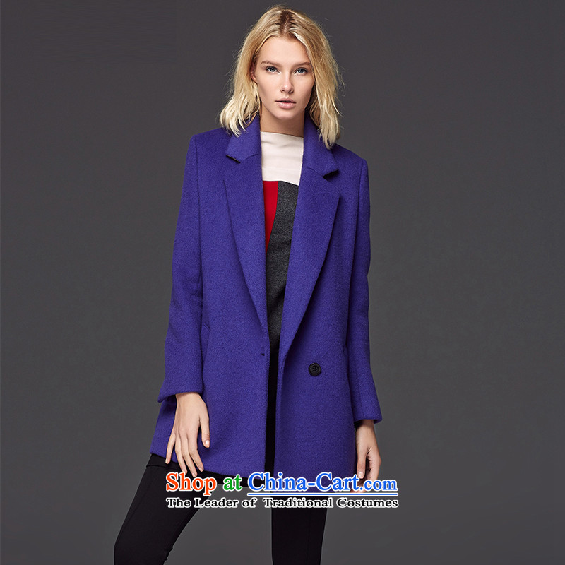 Lily stylish and simple gross coats purple S LL214407009?