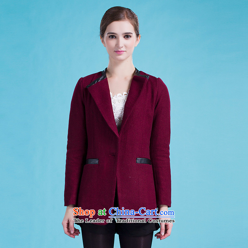 Blue silk Doi _gross_? jacket lansda L10130A8 rusty red L