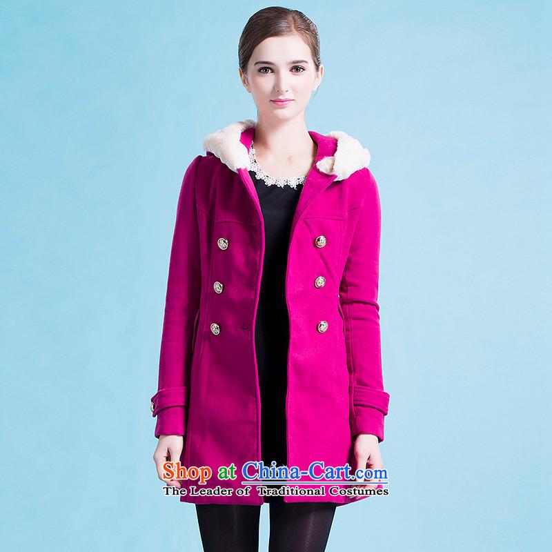Blue silk Doi _lansda_ a wool coat燣13414018039燽etter red燣