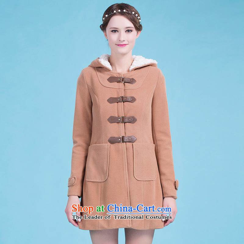 Blue silk Doi _lansda_ a wool coat L13414019013 and color L
