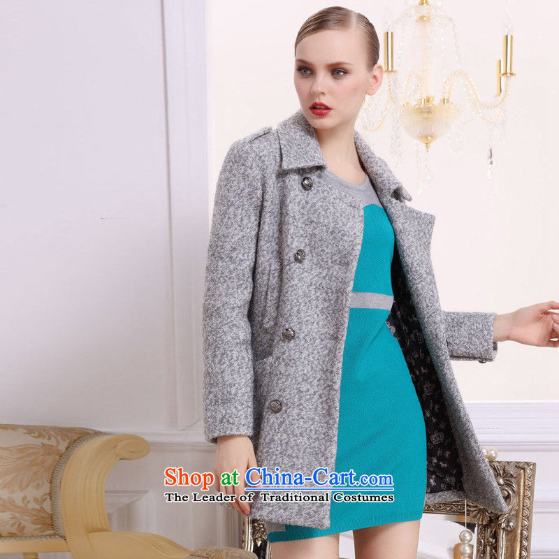 Hayek terrace _female_ gray elegant MAXILU double-long-sleeved coats M862B3054C03 L
